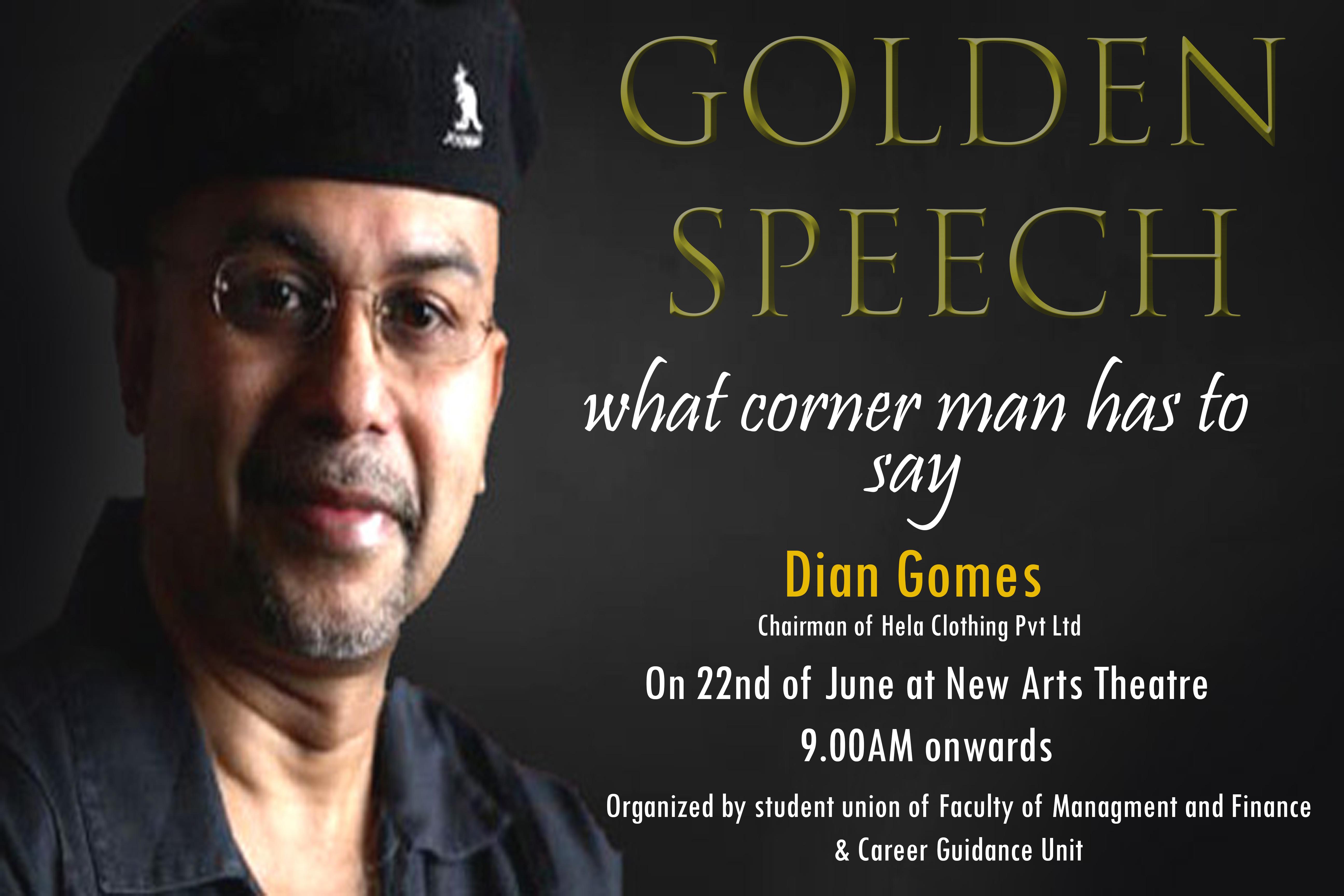 Golden Speech 2016