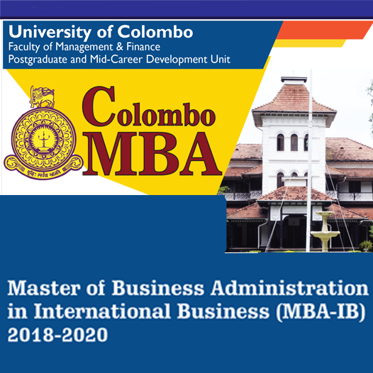 Master of Business Administration in International Business (2018-2020)