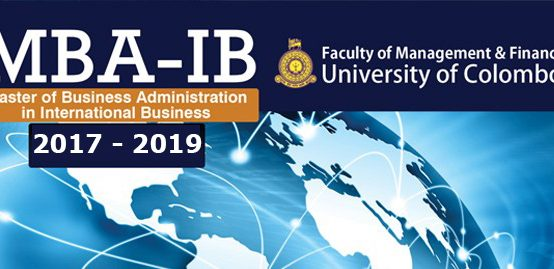 Master of Business Administration in International Business (2017-2019)