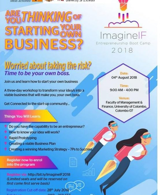 ImagineIF Entrepreneurship Boost Camp 2018