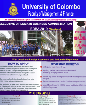 Executive Diploma in Business Administration (EDBA)