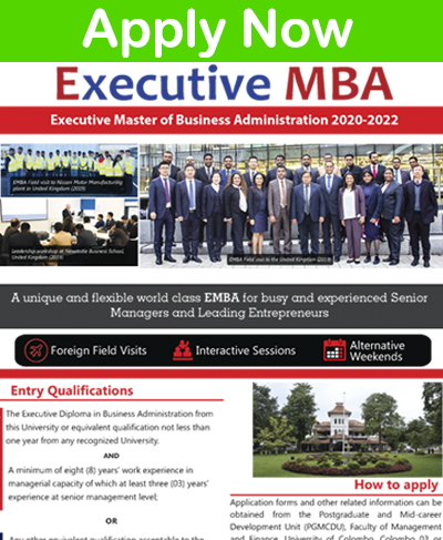 Executive Master of Business Administration (EMBA) 2020-2022