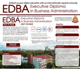 Executive Diploma in Business Administration (EDBA)