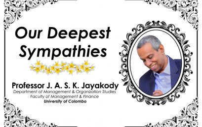 Obituary Notice: Professor J.A.S.K. Jayakody