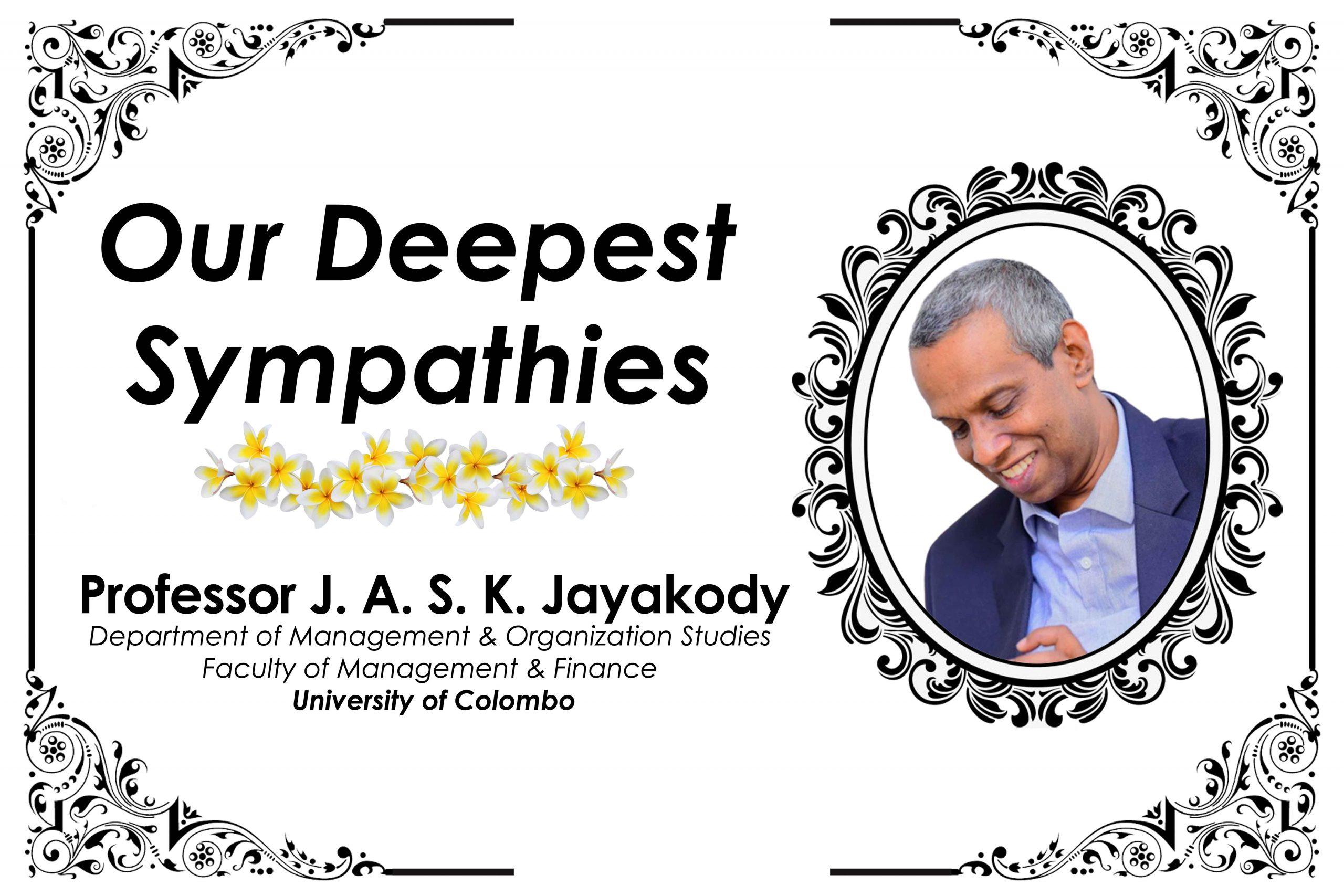 Obituary Notice: Professor J.A.S.K. Jayakody