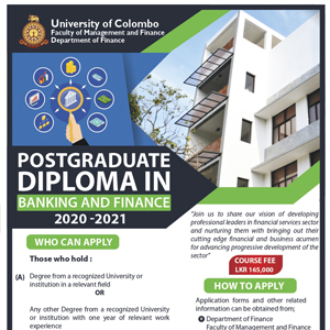 Postgraduate Diploma in Banking and Finance